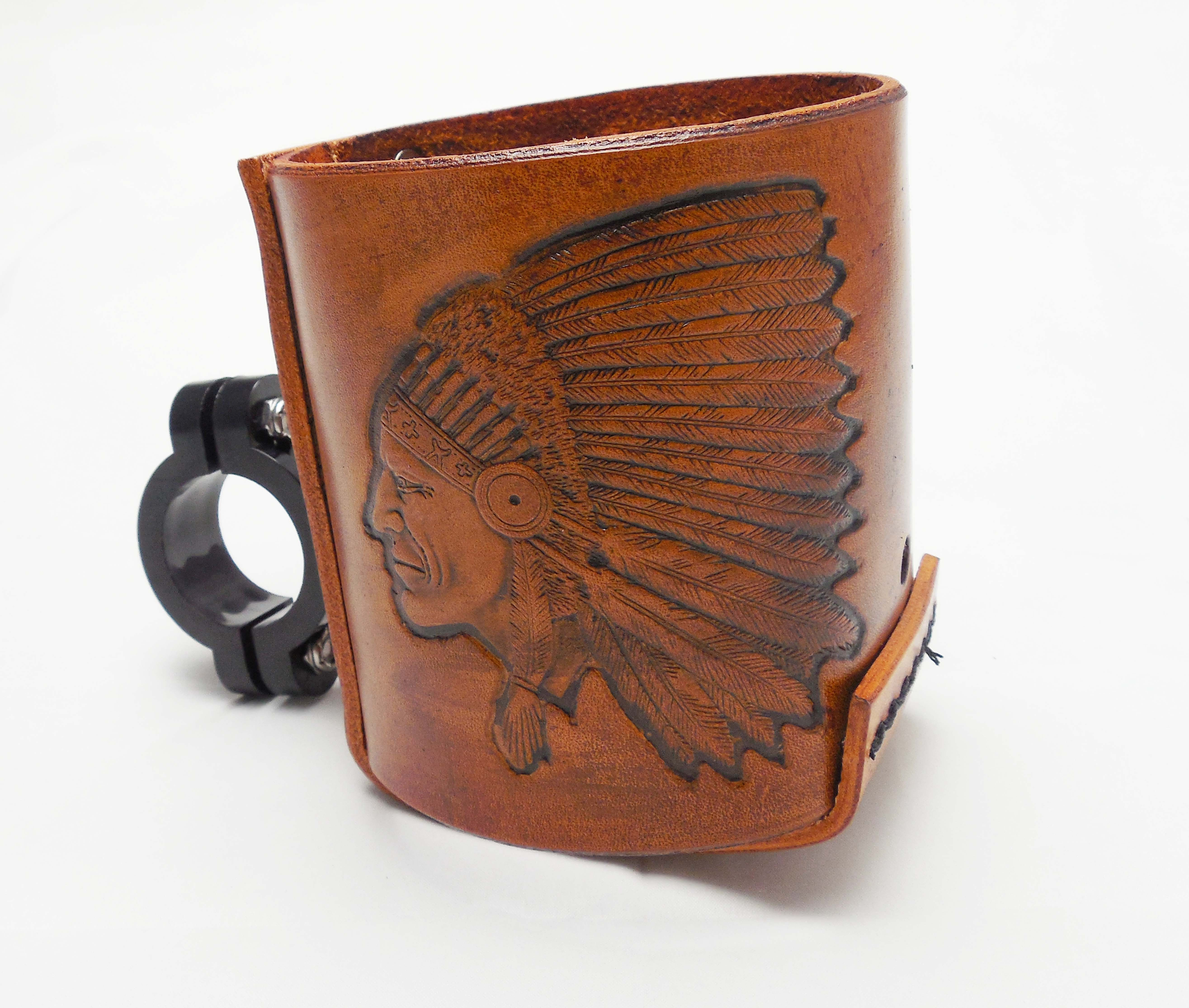 Bottle Holder Indian Head Tan