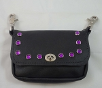 Purse for Belt loops with Purple Studs