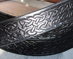 Belt Black Celtic Knot 1 1/2