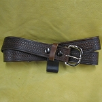 Belt Brown Tri- Weave 1 1/2