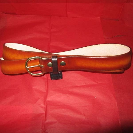 Belt Lutzs Plain Tan 1 3/4 Inch Wide Leather