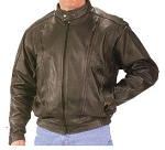 Mens Vented Premium Leather Jacket, 0209.ec