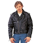 Men s Classic Leather Jacket, 012.00