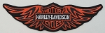 Harley Davidson Strait Wings Patch, HD132