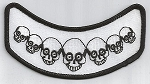 Skulls (black on white), 020-223