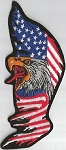 Eagle head on worn flag Patch, 020-724A