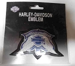 Harley-Davidson Blue & White Wings Patch, HD113