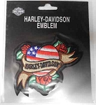 Harley-Davidson Red, White & Blue Heart Patch, HD121