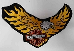 Harley-Davidson Flaming Eagle Emblem Patch, EMB809773 HD49