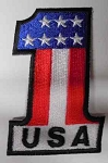 USA #1 Red, White, & Blue Patch, F6005