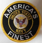 America's Finest US Navy Patch, P532