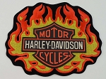 Harley Davidson Flame Emblem Embroidered Patch, HD5