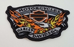 Harley Davidson Flaming Eagle Embroidered Patch, HD14