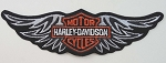 Harley Davidson Strait Silver Wings Emblem Patch, HD54