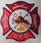 V.F.D. Firefighter Patch, PM0594/ p371