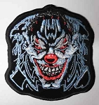 Evil Clown Face embroidered patch, p401