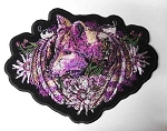 Puple Wolf w/ flowers patch, p894