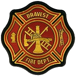 Fire Dept. Embroidered Patch, p432