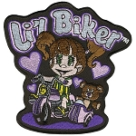 LIL BIKER Embroidered Patch, p479