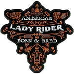 LADY RIDER SCROLL Embroidered Patch, p416