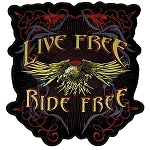 Evil Eagle Live Free Embroidered Patch, p612, p613