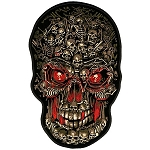 Skull Makes Skulls Embroidered Patch, P351, p352