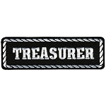 TREASURER Officer Embroidered Patch, p151