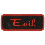 EVIL Embroidered Patch, p484