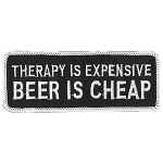 THERAPY IS EXPENSIVE Embroidered Patch, p572