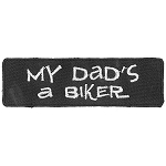 DADS A BIKER Embroidered Patch, p714