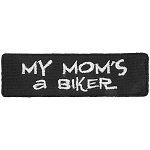 MOMS A BIKER Embroidered Patch, p715