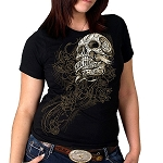 Banner Skull Full Cut T-Shirt, #64