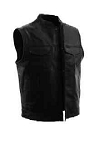 Men's First Manufacturing Leather Concealment Vest, FMM690
