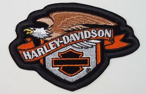 Harley Davidson Eagle Sheild Embroidered Patch, HD119