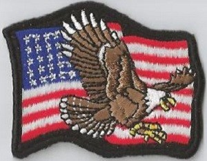 American Flag with Eagle in Center, 020-711