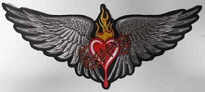Heart With Wings Patch, LT30040