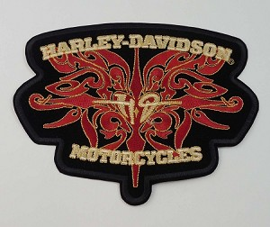 Harley Davidson Heart Embroidered Patch, HD18 HD19