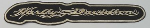 Harley Davidson Flame Script Embroidered Patch, HD35 HD36