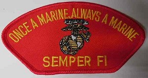 """Once A Marine, Always a Marine"" Semper FL Patch, PM1352"