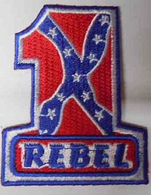 #1 Rebel Flag Patch, PM3111