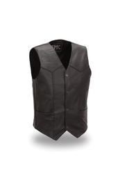 Vest Leather Men Classic