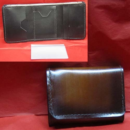 Lutzs Brown Leather Tri-fold Wallet