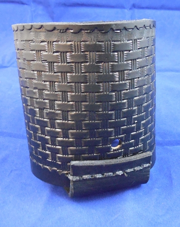 Basket weave Leather bottle Holder