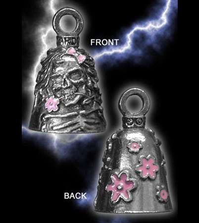 Lady Skull Guardian Bell (w/ Pink Flowers), 93 w/ Shipping