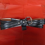 Lutzs Black Rope 1 1/4 Inch Leather Belt