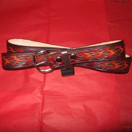 Belt Lutzs Orange Flame 1 1/2