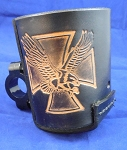Eagle with cross Leather Bottle holder