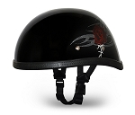 HELMET Gloss with Red Rose Novelty