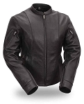 First Manufacturing Women's Side Buckled Racer Jacket, FIL177