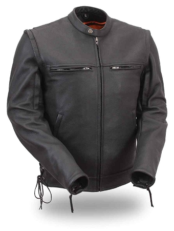 FIM225 Black Scooter Jacket